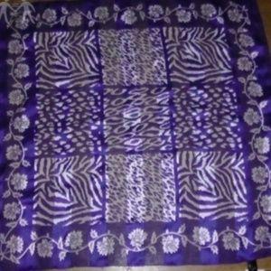 Accessories - Vintage leopard zebra stripes cheetah print scarf